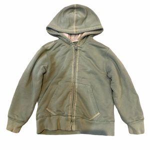 L.L. Bean Boys Fleece Lined Zip Up Hoodie Green